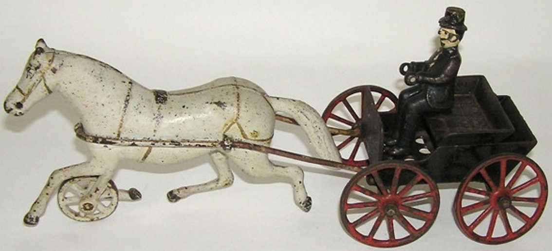 Harris Toy Co Horse drawn doctor's cart with driver