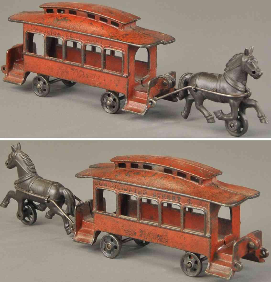 harris toy co spielzeug gusseisen strassenbahn ein pferd