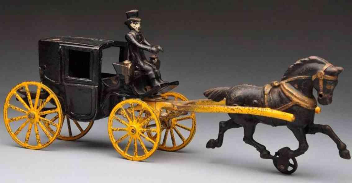 Hubley Kutsche mit zwei Türen aus Gusseisen mit einem Pferd