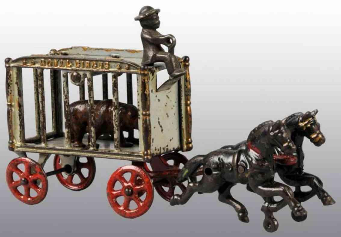 hubley zirkuswagen zwei pferde kutscher tier