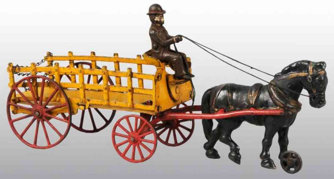 Hubley Delivery wagon with driver and black horse