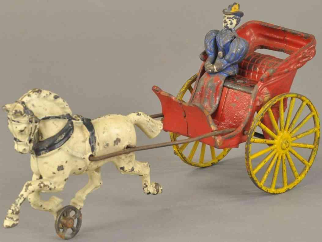hubley spielzeug gusseisen phaeton kutsche  ein pferd