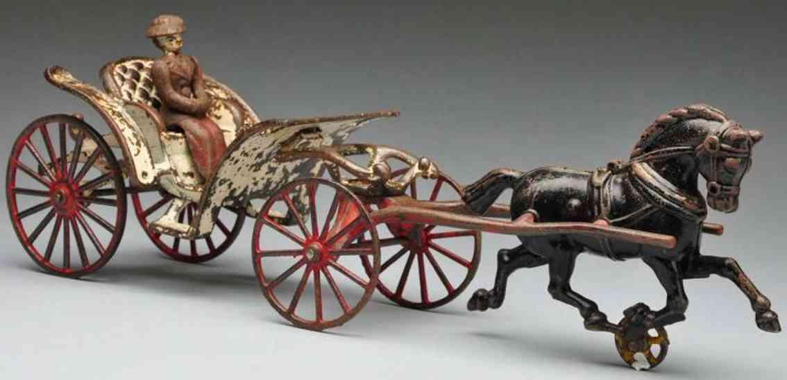 hubley spielzeug gusseisen phaeton kutsche figur ein pferd