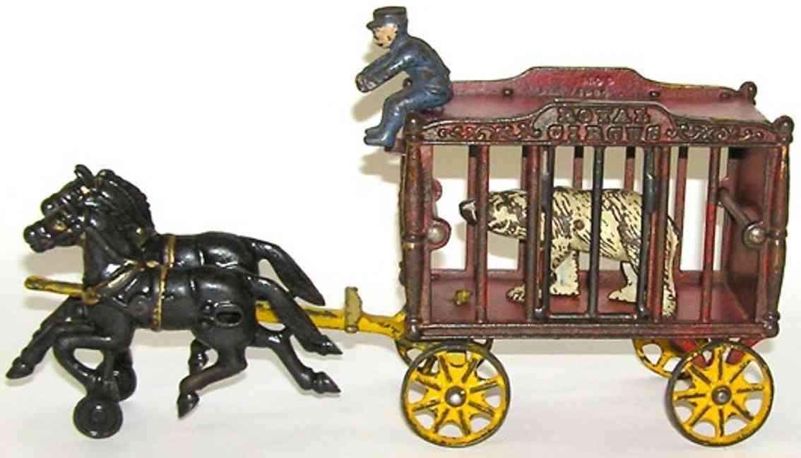 hubley zrkuskaefigwagen zwei schwarze pferden polabaer