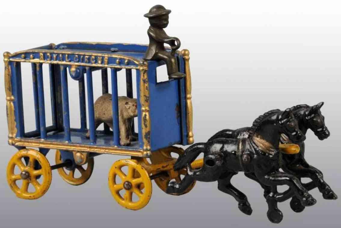 hubley royal crus zirkuskaefigwagen blau gold polarbaer