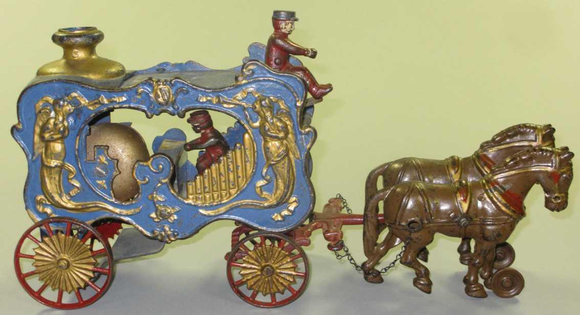 hubley royal zirkuskutschenwagen orgel zwei pferde