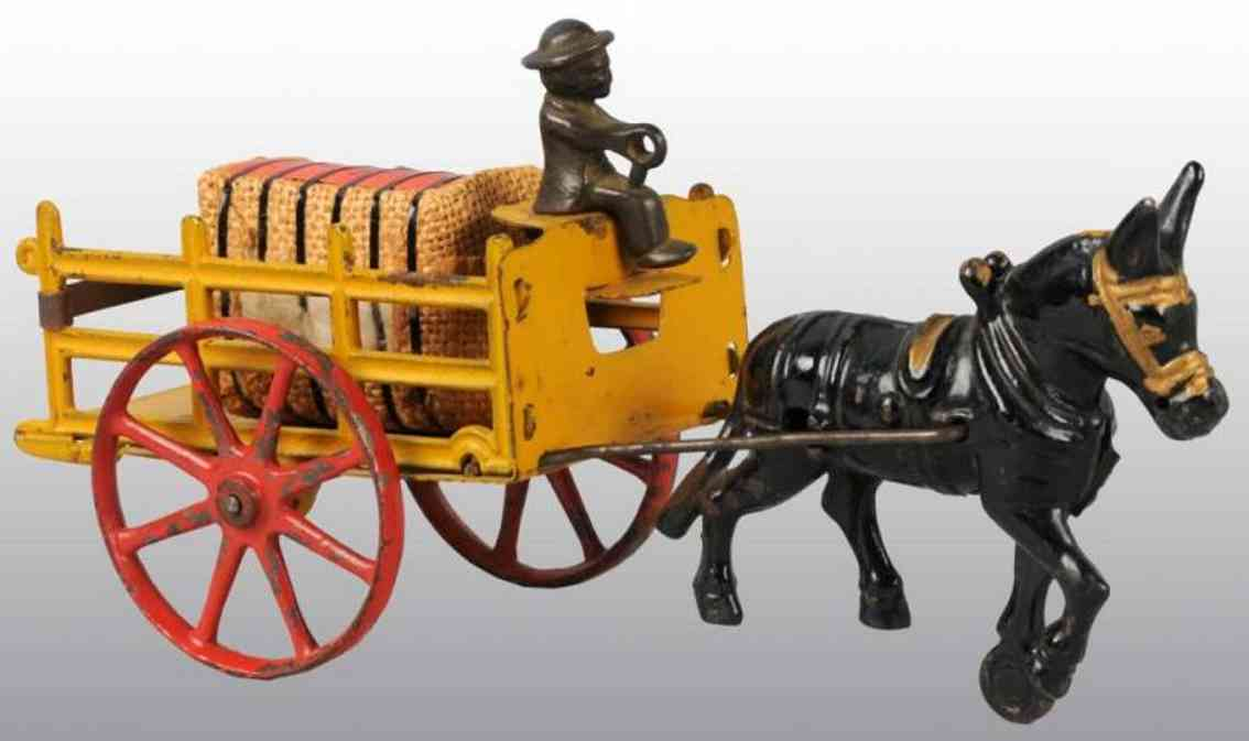 Hubley Kutsche mit Kutscher und schwarzem Pferd