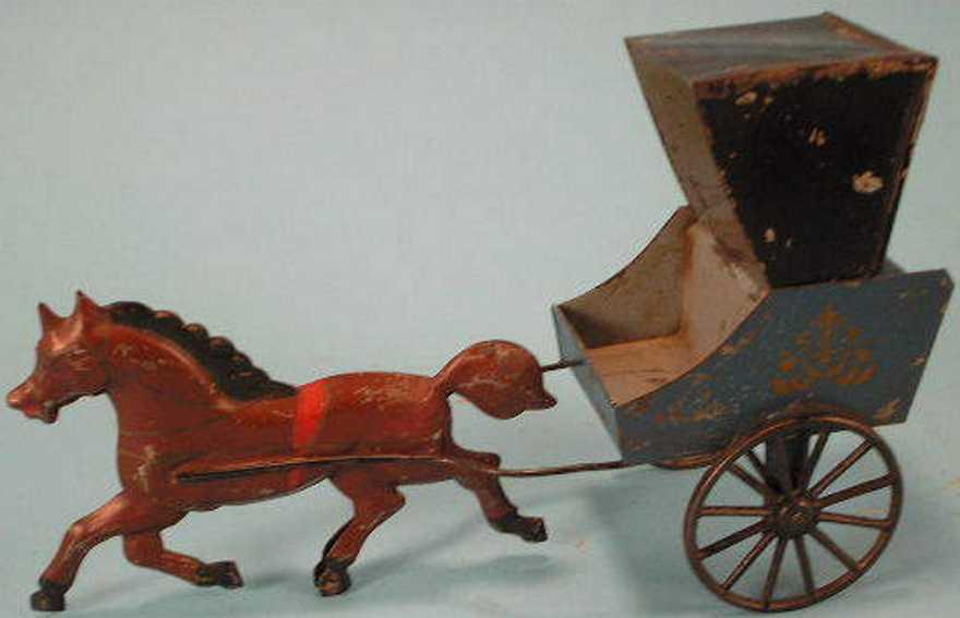 hull & stafford blech spielzeug kutsche ein pferd