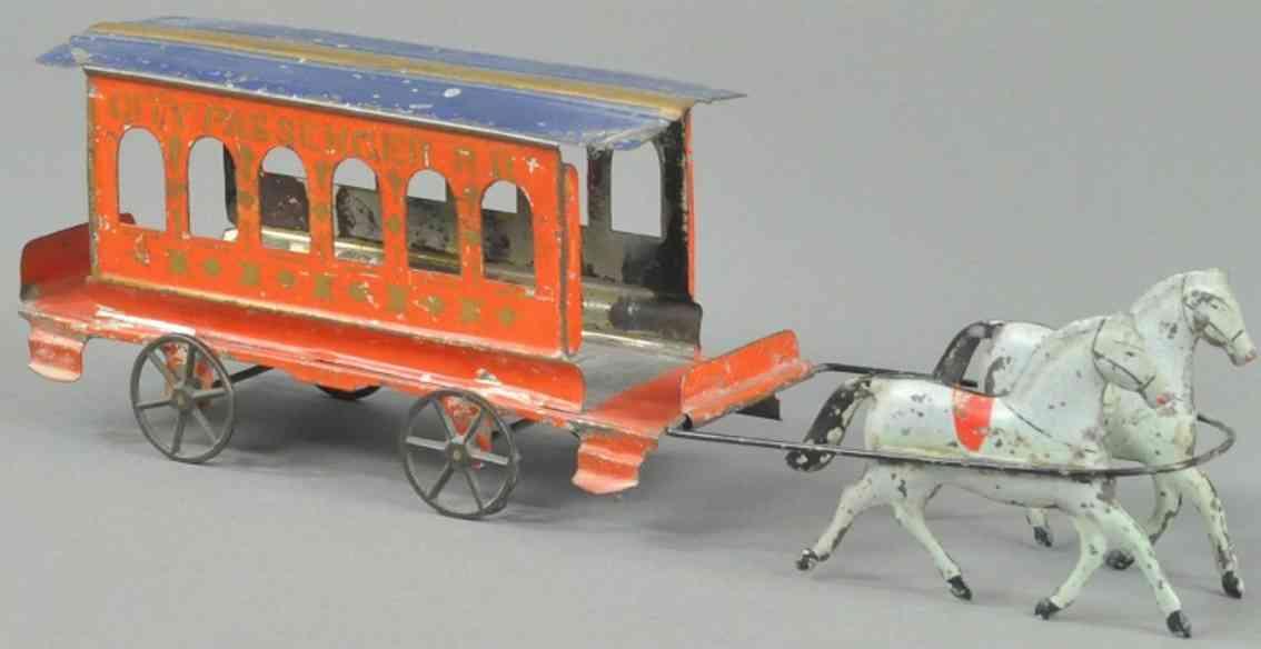 hull & stafford blech spielzeug stadtstrassenbahn zwei schimmel