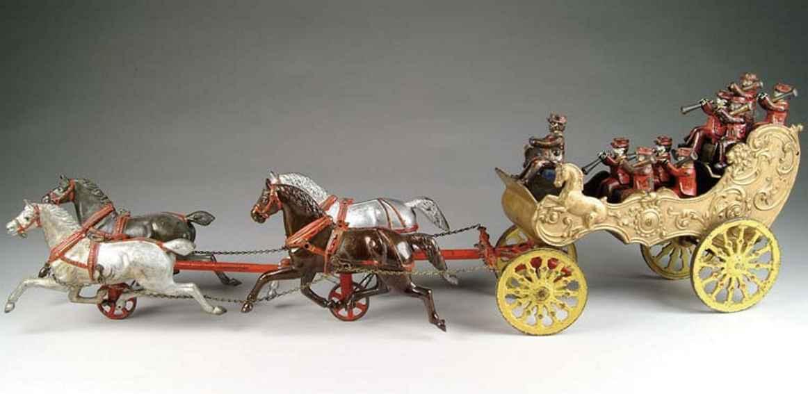 ives spielzeug gusseisen musikerkutsche vier pferde