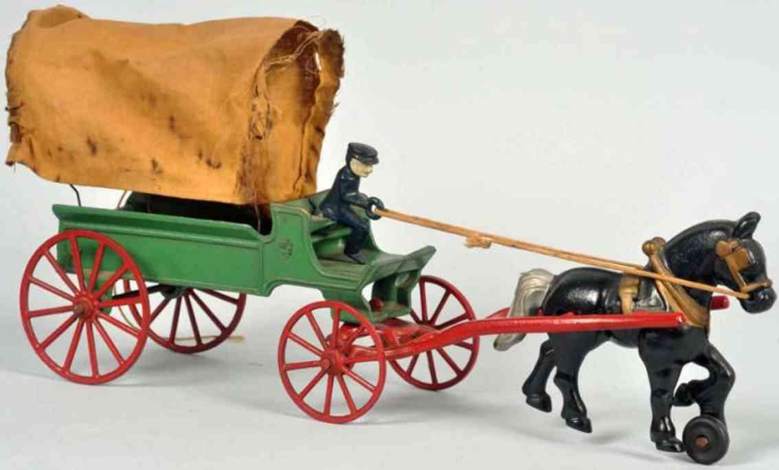 Kenton Hardware Co 170 Kutsche mit Brauereipferd aus Gusseisen