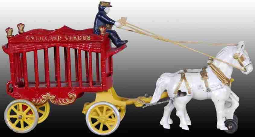 kenton hardware co cast iron toy overland toy circus wagon