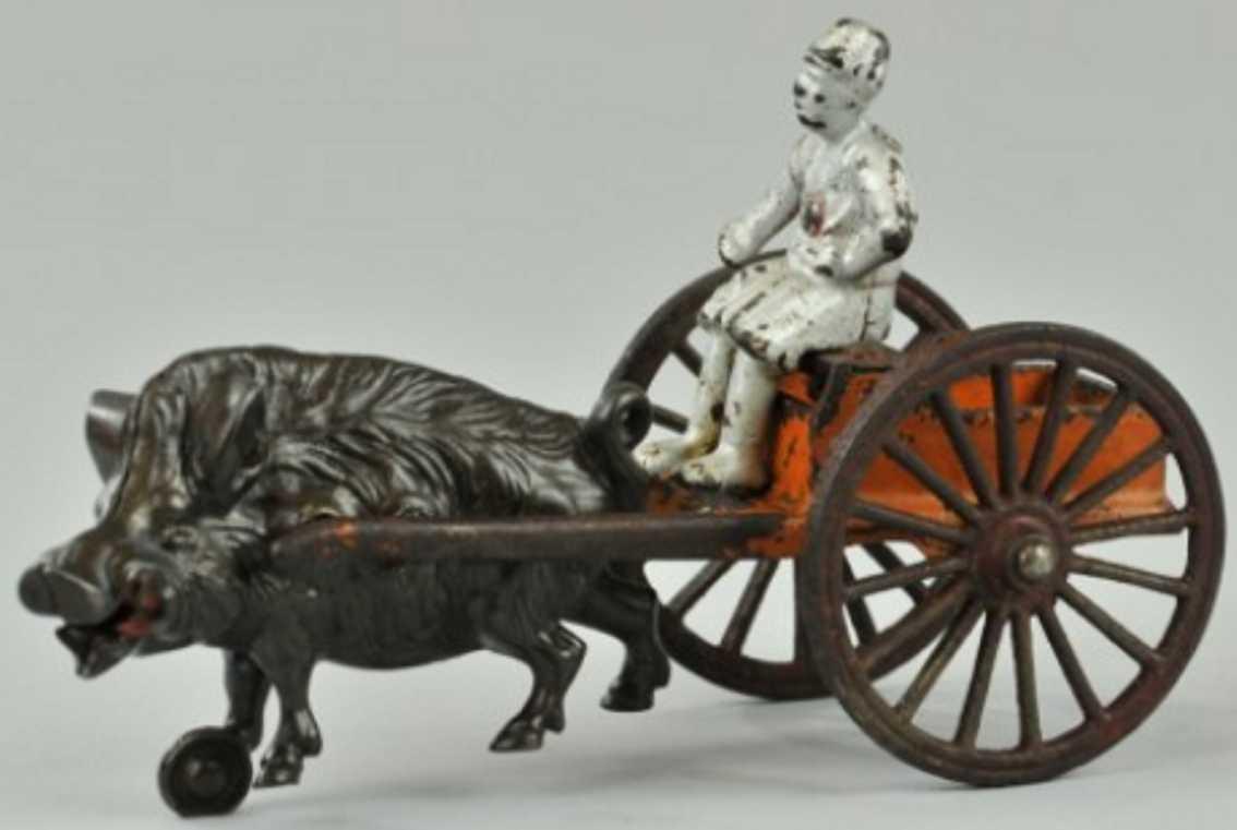 kenton hardware co spielzeug gusseisen aegyptischer kutschenwagen wildschwein