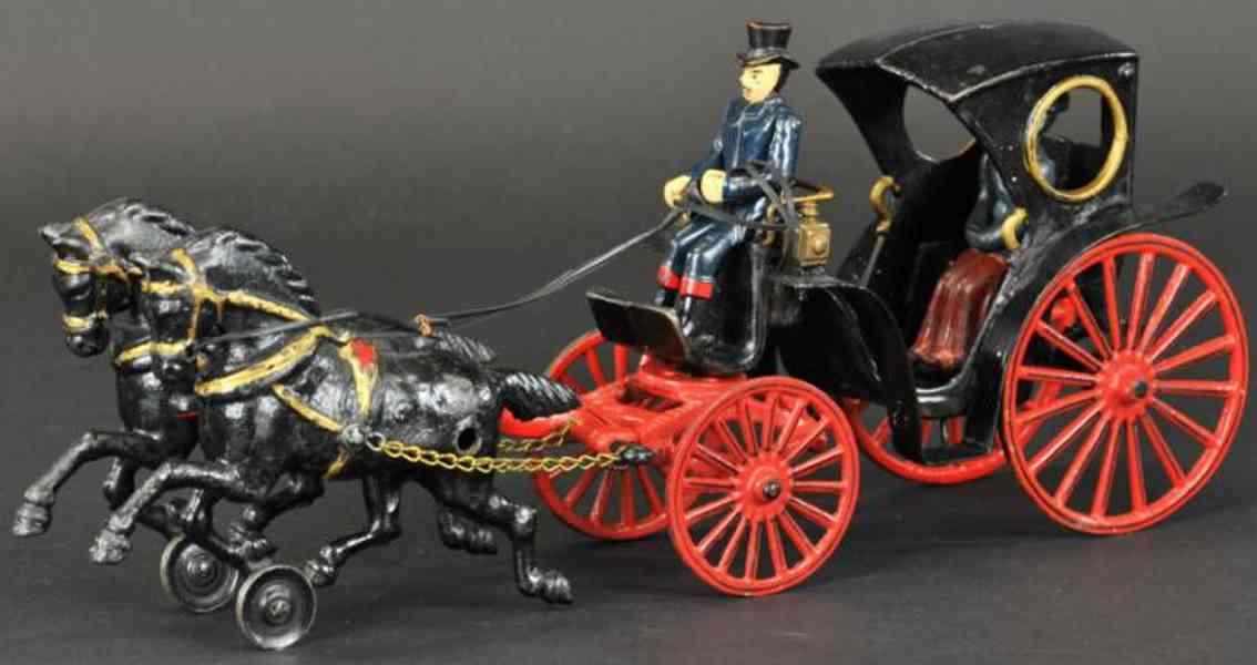 kenton hardware co cast iron toy cabriolet black