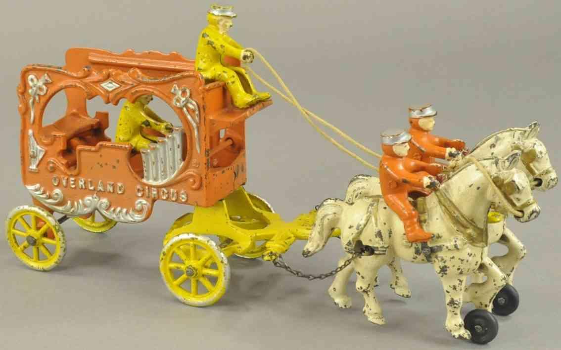 kenton hardware co spielzeug gusseisen orange kutsche orgel zwei schimmel
