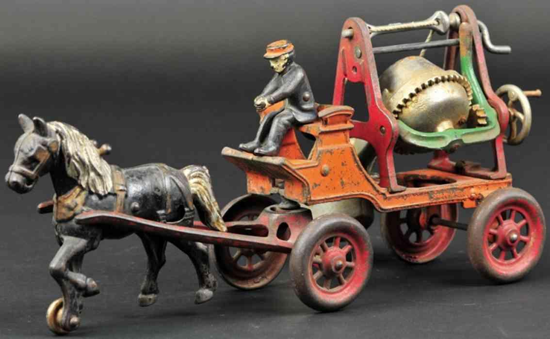 kenton hardware co spielzeug gusseisen zementmischmaschine karre ein pferd