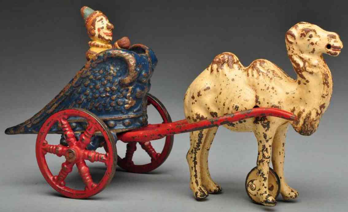 Kenton Hardware Co Cast iron chariot camel-drawn toy
