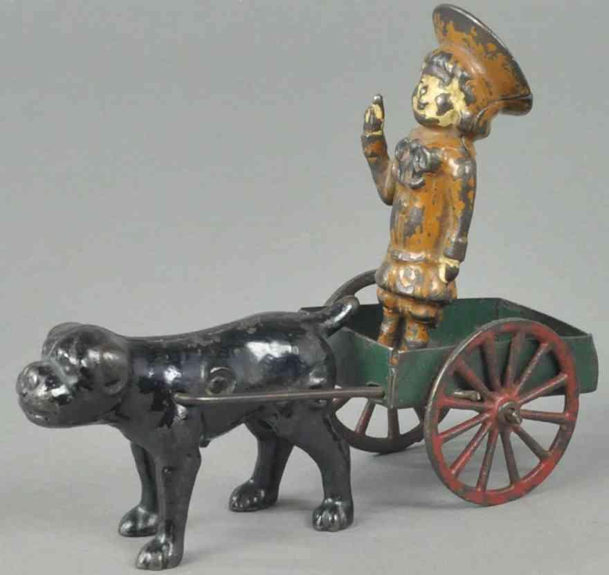 kenton hardware co spielzeug gusseisen blech buster brown mit hund in karre