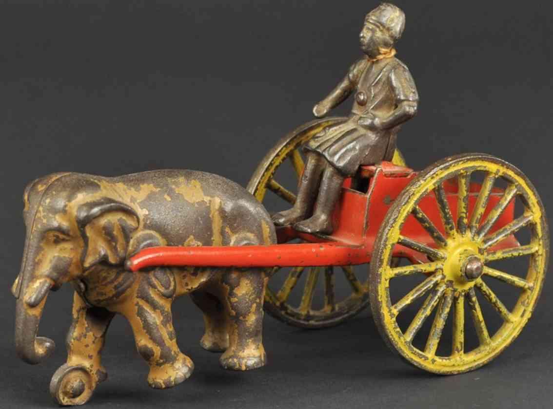 kenton hardware co spielzeug gusseisen hindu auf karre mit elefant