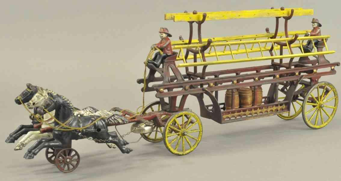 kenton hardware co spielzeug gusseisen leiterwagen drei pferde