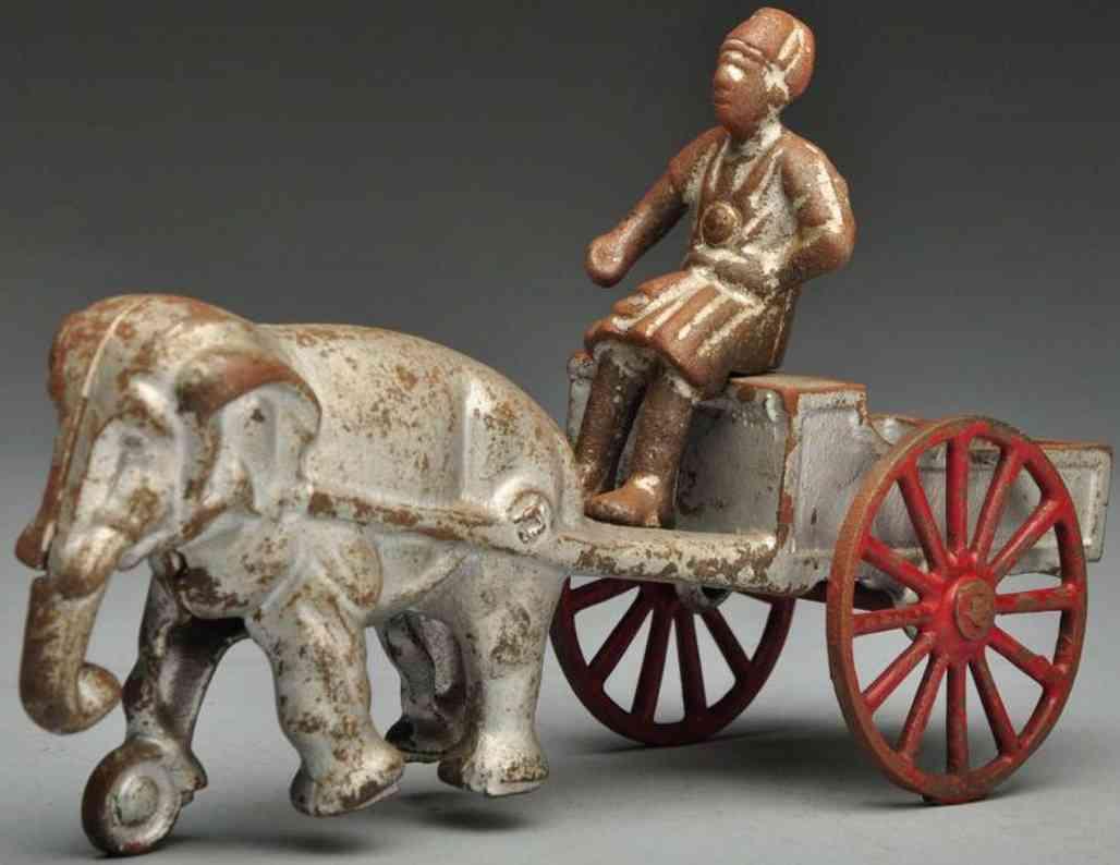 kenton hardware co spielzeug gusseisen inder auf kutsche mit elefant