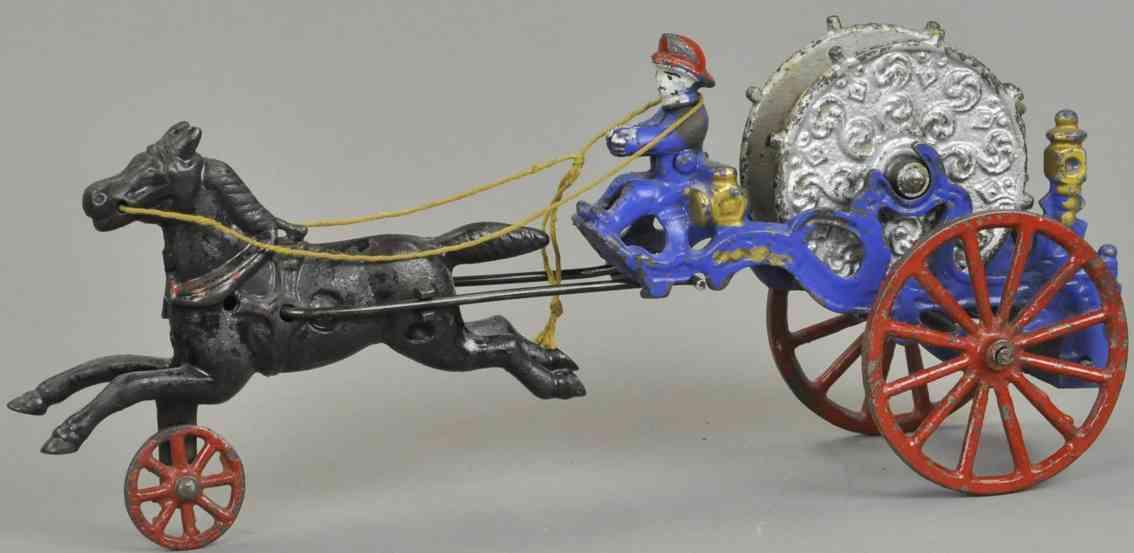 kenton hardware co spielzeug gusseisen schlauchkutsche ein pferd
