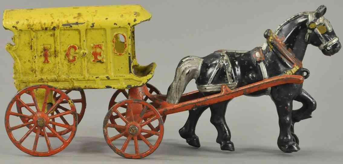 kenton hardware co spielzeug gusseisen eis kutsche ein pferd