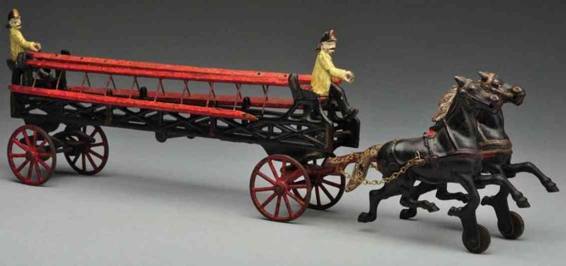 kenton hardware co ladder truck spielzeug gusseisen leiterwagenkutsche zwei pferden