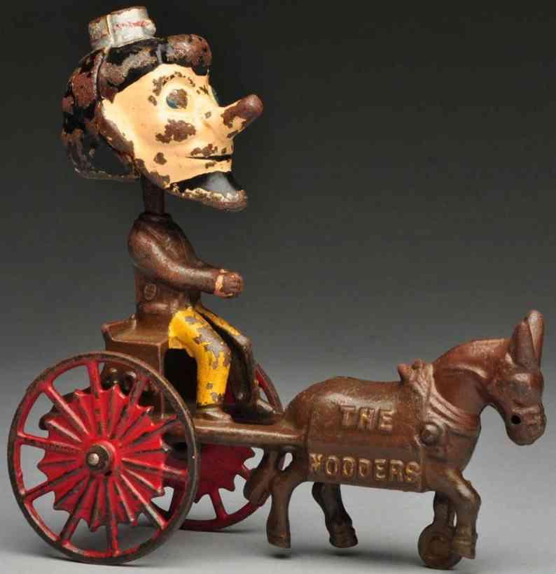 kenton hardware co spielzeug gusseisen wackelfigur auf kutsche