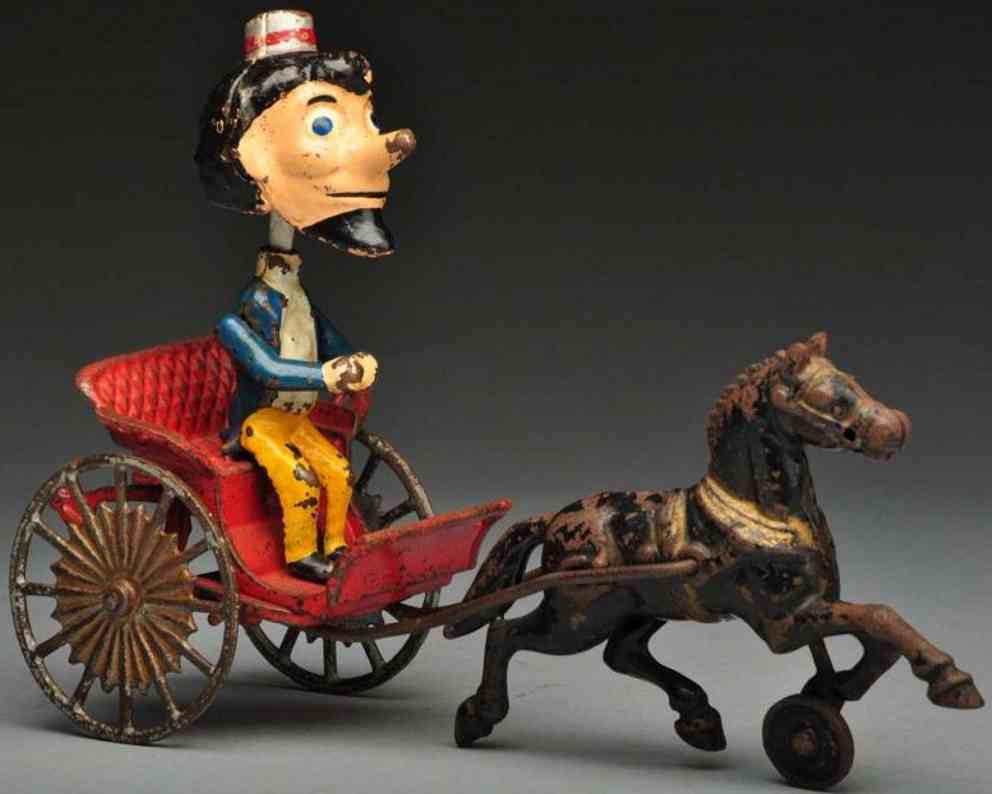 kenton hardware co wackelfigur in kutsche aus gusseisen mit pferd