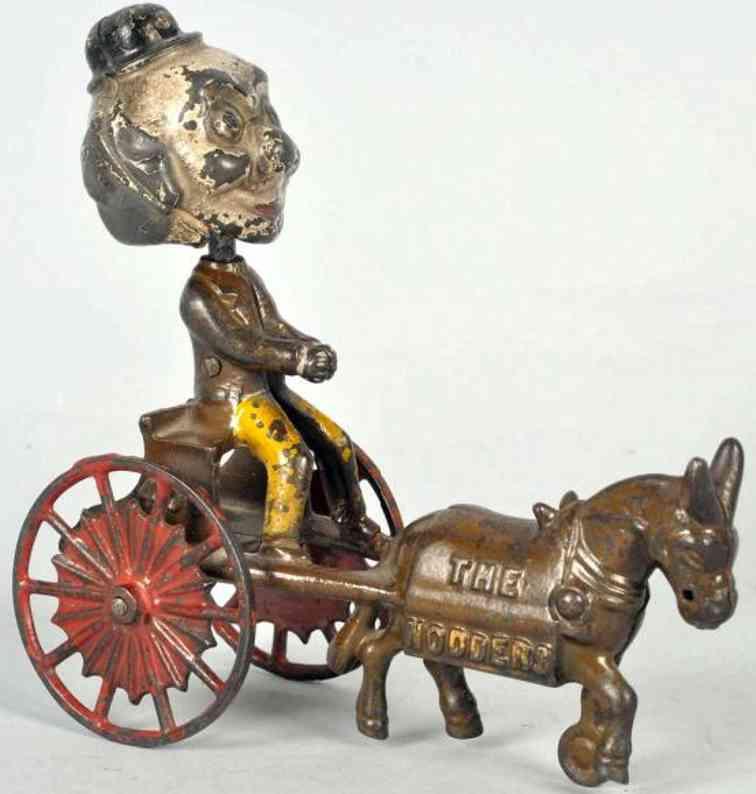 kenton hardware co spielzeug gusseisen großvater foxy  auf karre mit esel