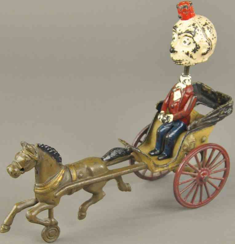 kenton hardware co spielzeug gusseisen gluecklicher rowdy wackelfigur pferd
