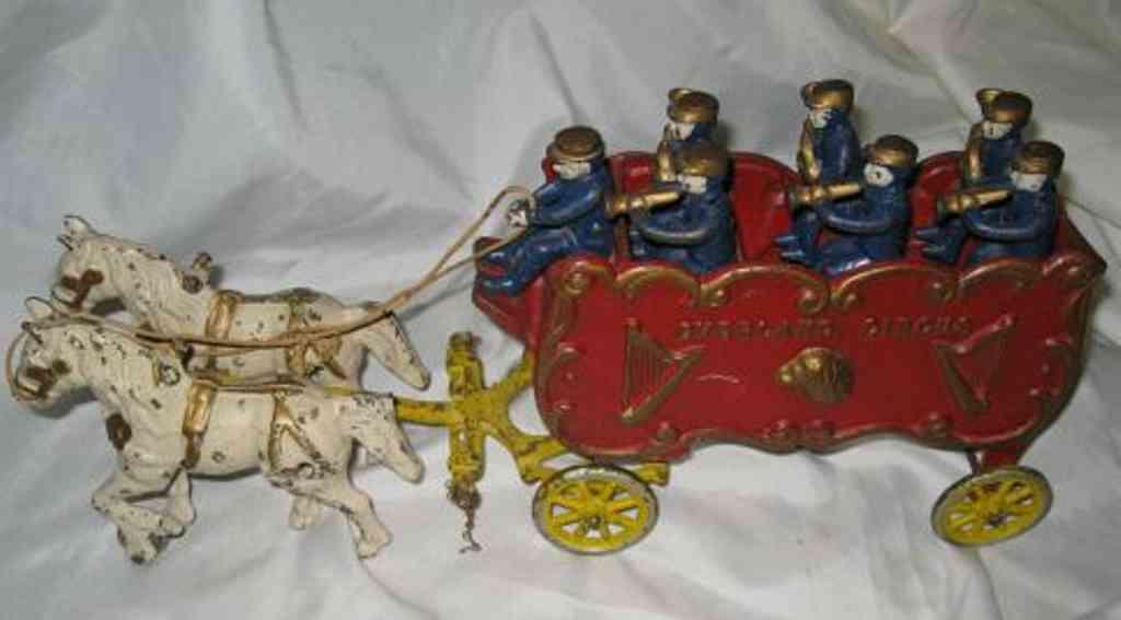 kenton hardware co gusseisen zirkuskutsche zwei pferde
