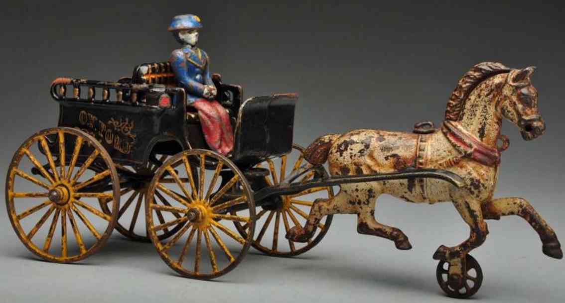 Kenton Hardware Co Oxford Kutsche aus Gusseisen mit einem Pferd