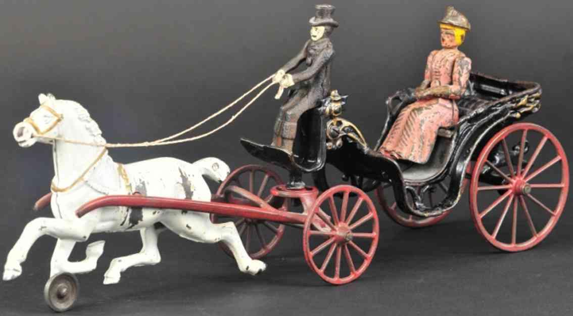 kenton hardware co spielzeug gusseisen viktorianische kutsche ein pferd