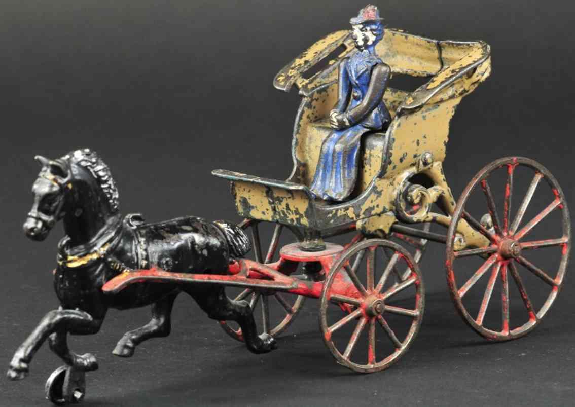 kenton hardware co spielzeug gusseisen phaeton kutsche ein pferd