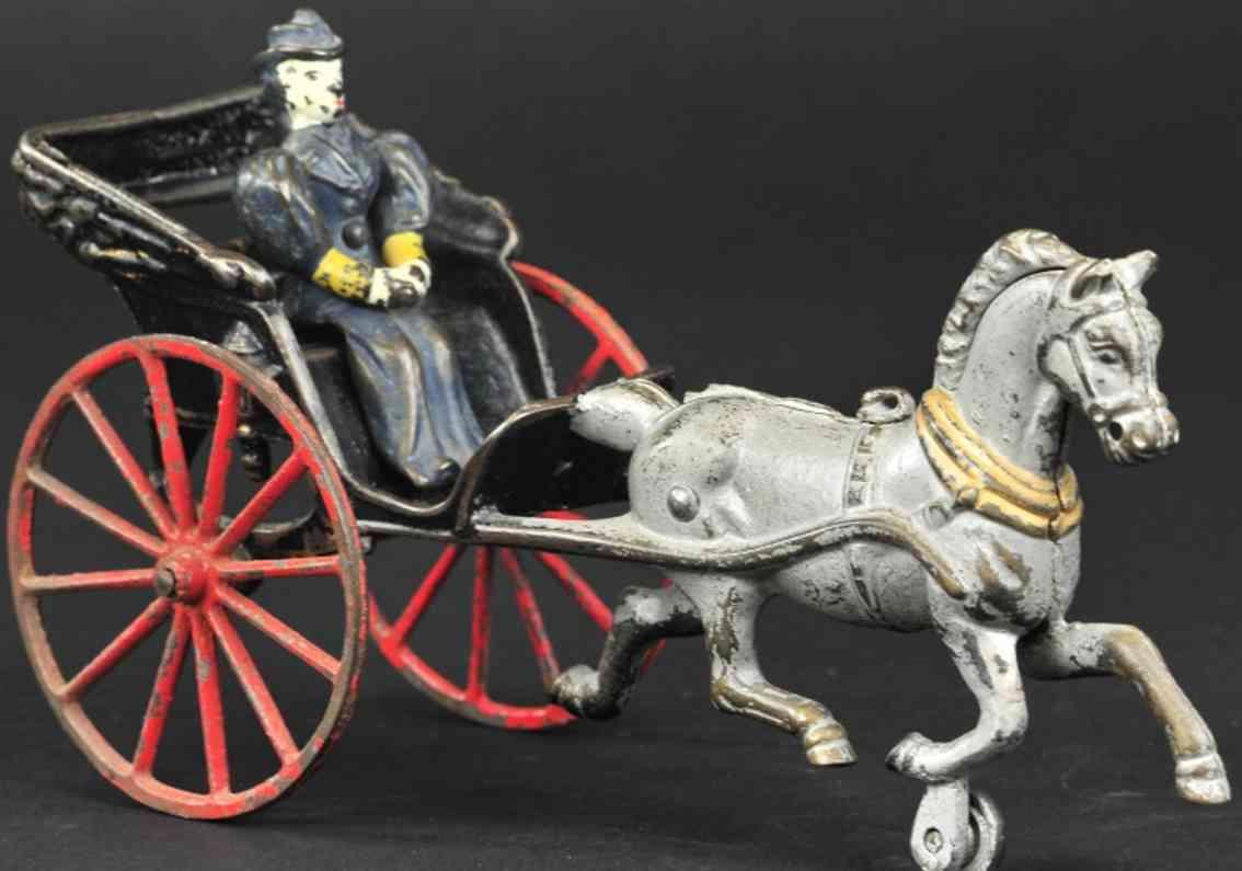kenton hardware co spielzeug gusseisen phaeton kutsche ein pferd silbern