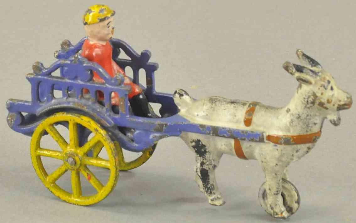 kyser & rex cart 1 goat 4,75 spielzeug gusseisen karre mit ziege, wahrscheinlich von kyser & rex wegen des ve