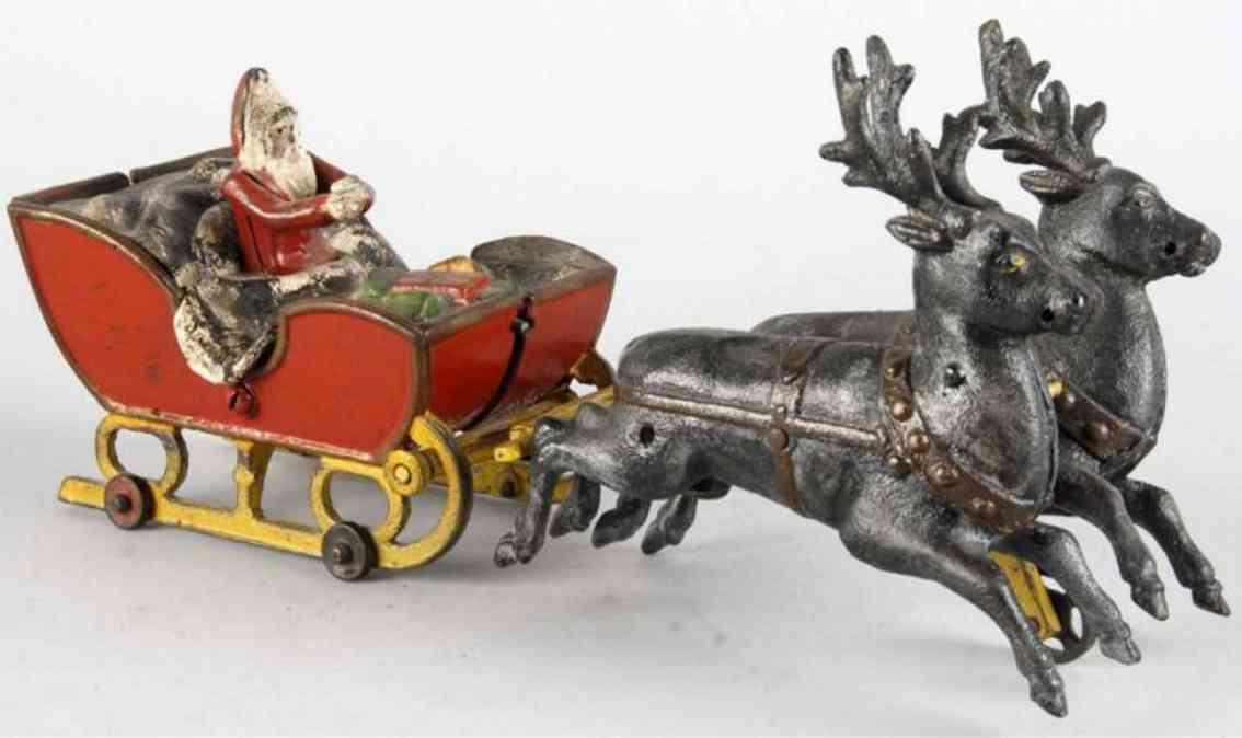 kyser & rex gusseisen weihnachtsschlitten zwei rentiere
