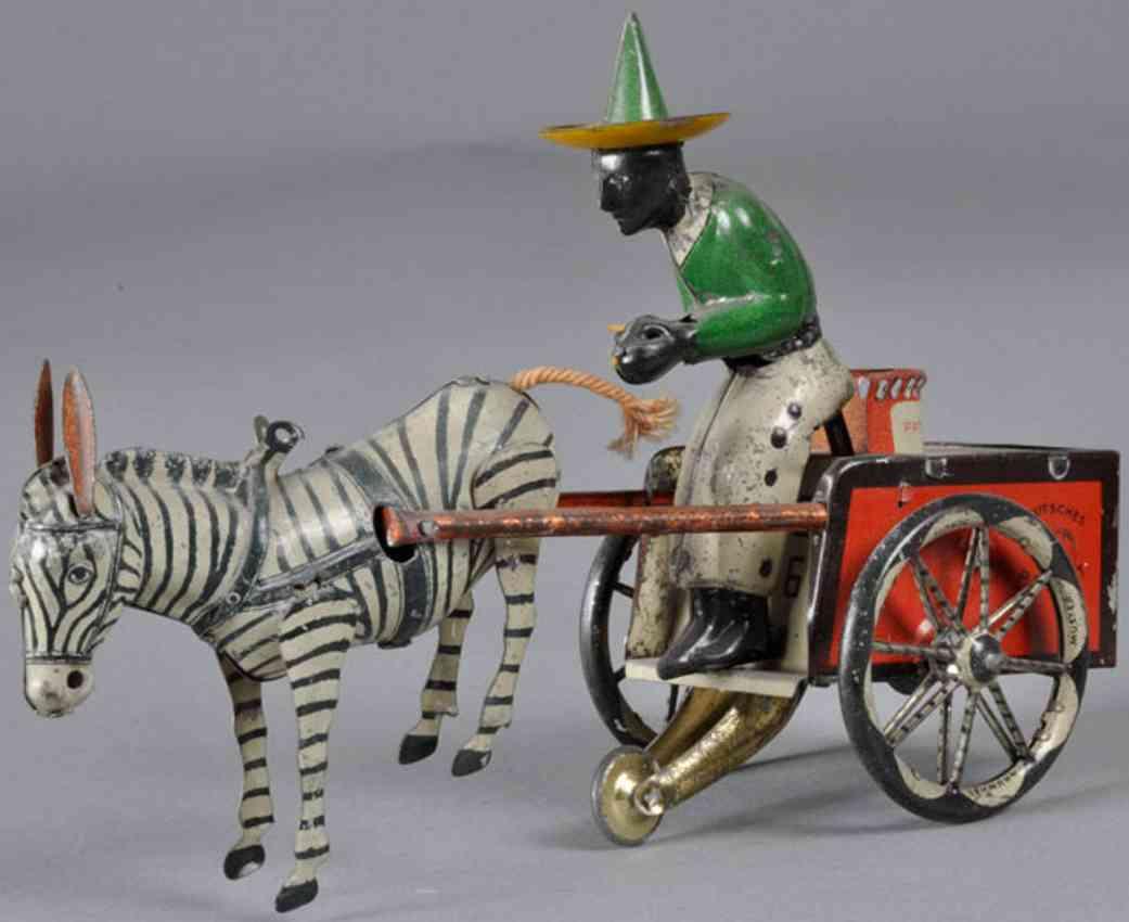 lehmann 752 tin toy coach dare devil black driver zebra