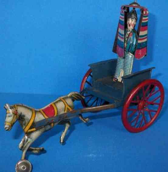 Levy George Gely Marker on horse car with clockwork