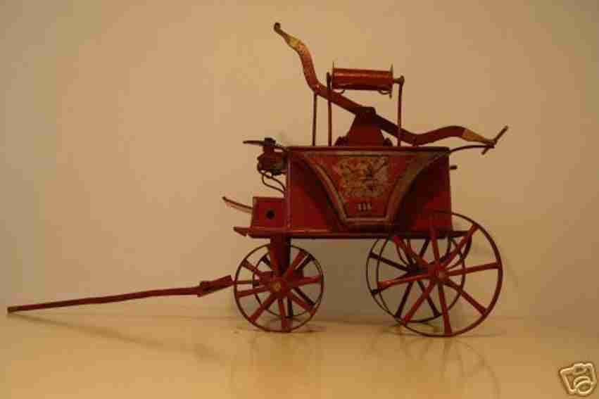 lutz tin toy coach fire-extinguisher, in the water carrier two plungers are pla