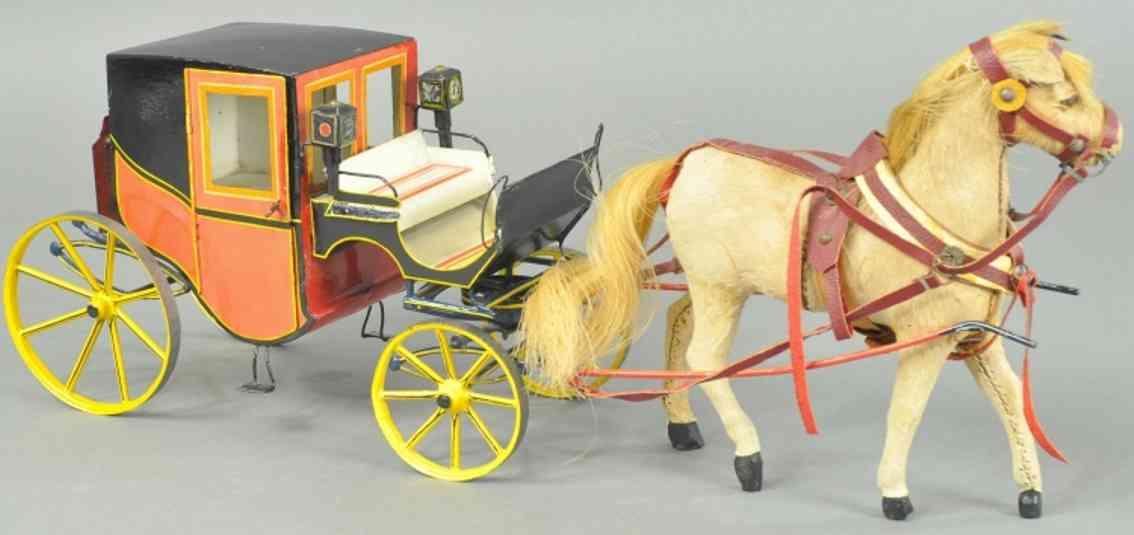maerklin blech spielzeug kutsche ein pferd