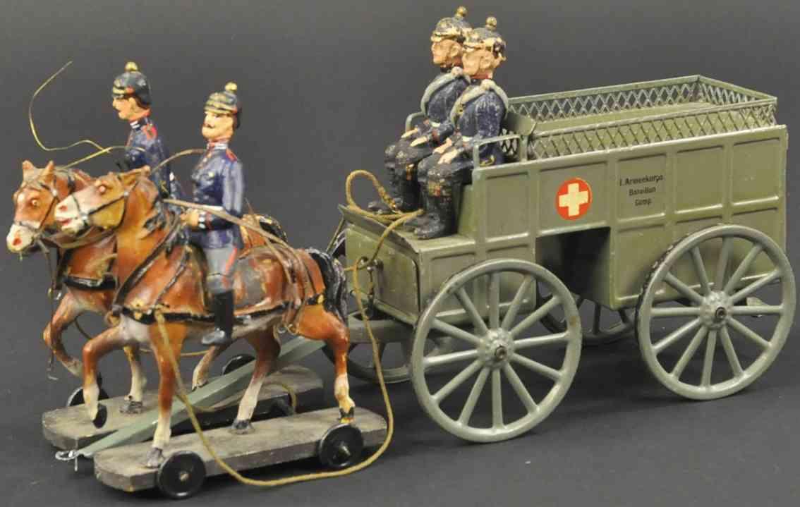 maerklin 8191b militaer spielzeug sanitaetskutsche zwei pferde reiter