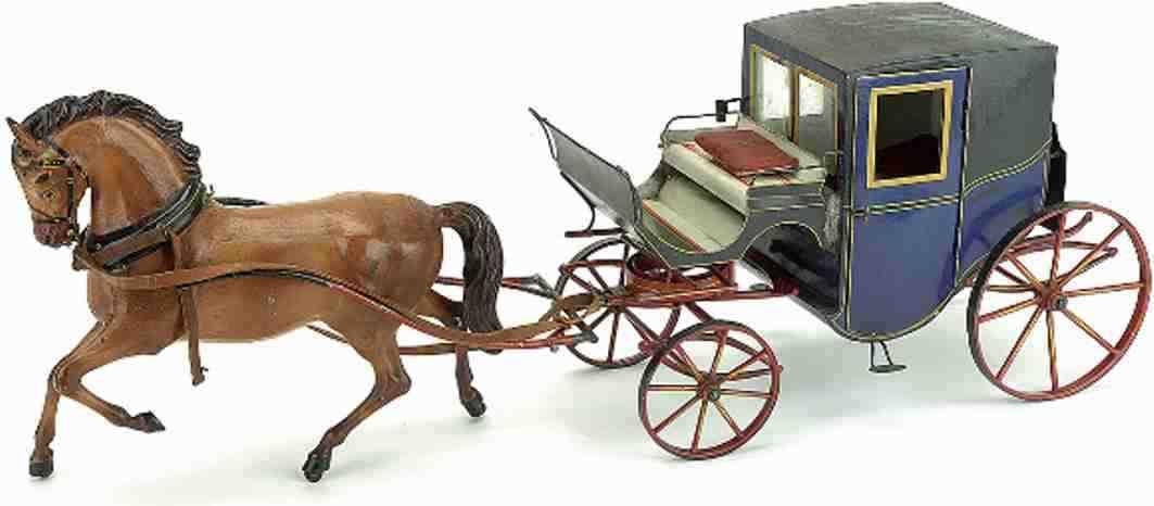 marklin blech spielzeug kutsche stanhope kutsche pferd