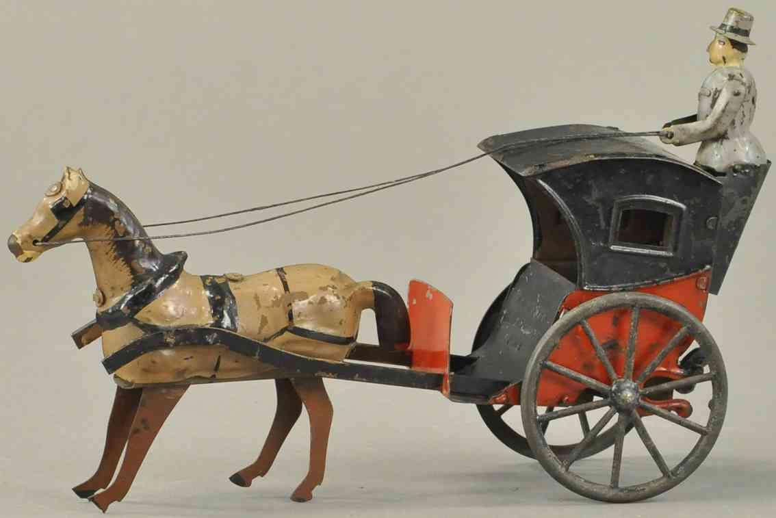 martin fernand 192 blech spielzeug kutsche pferd uhrwerk le cab 1903