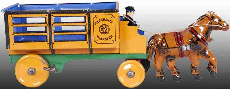 marx louis blech spielzeug kutsche mit fahrer haendlerwagen