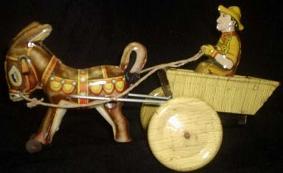 marx louis tin toy coach balking mule