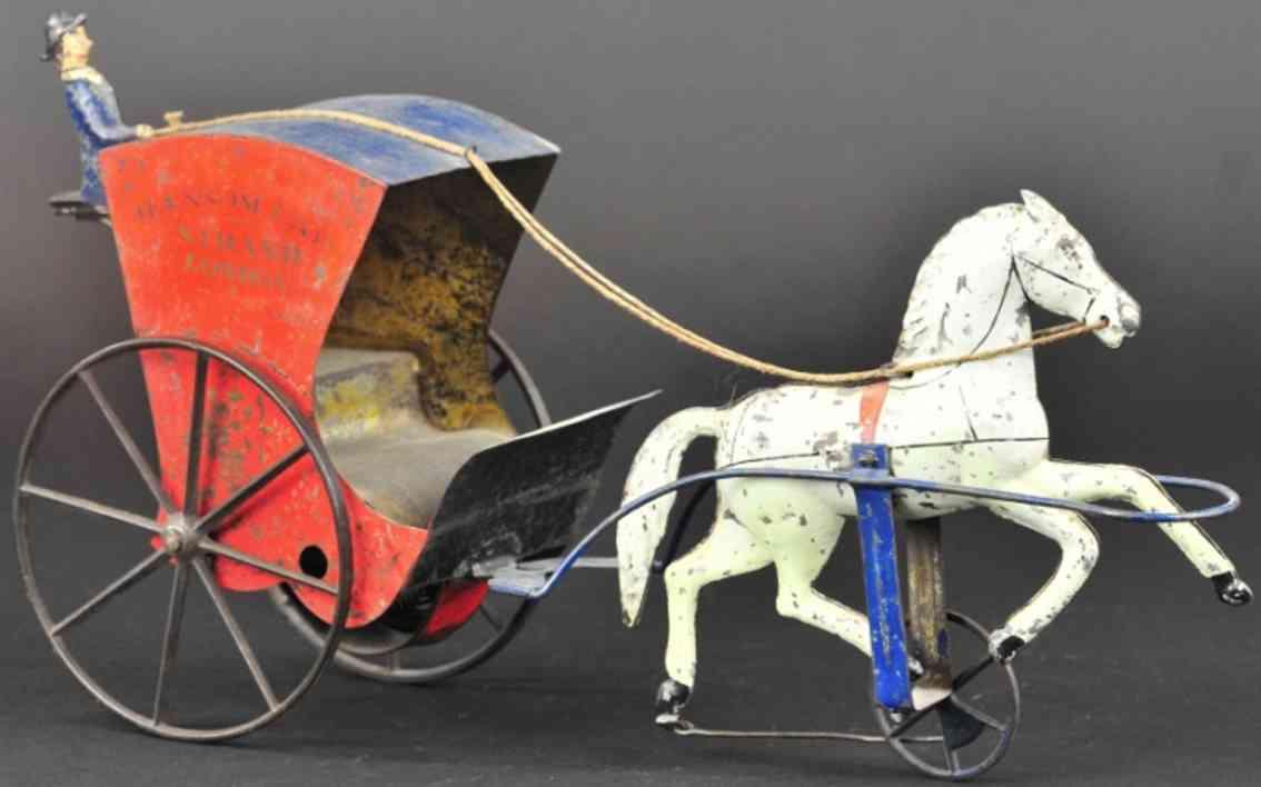 merriam blech spielzeug hansom droschke kutsche ein pferd