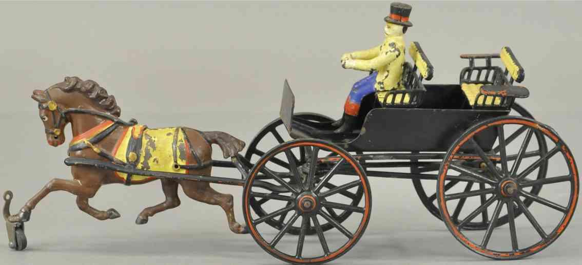 pratt & letchworth cast iron toy coach double surrey